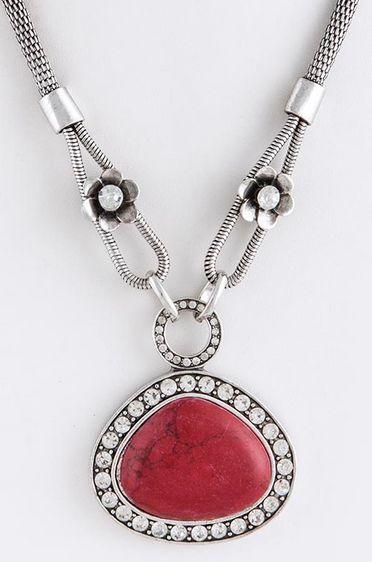 Nora: Ladies Crystal & Stone Necklace Set