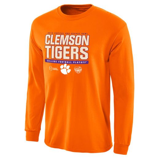 Clemson Tigers Orange College Football Playoff 2015 Orange Bowl Bound Snap Long Sleeve T-Shirt