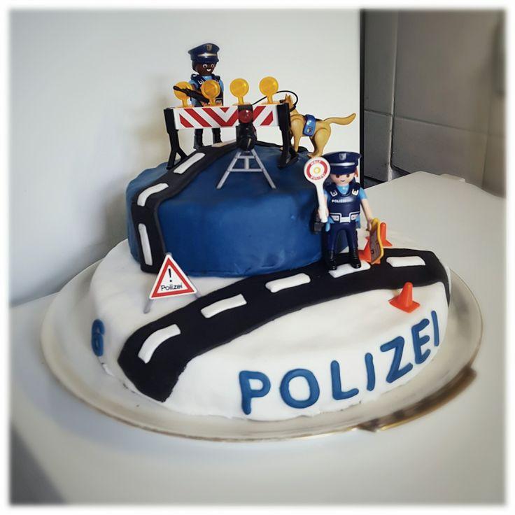 Polizeikuchen Kindergeburtstag