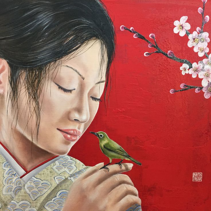 Happy!  I've finished today my Sakura painting of 2015.  To celebrate life I paint a cherry-blossom painting every year.  The sound of the spring Oil on linen 50x50 cm  Ingoleth.nl