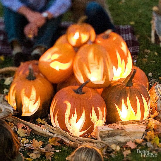 Pumpkin Bonfire - 101 Fabulous Pumpkin Decorating Ideas - Photos