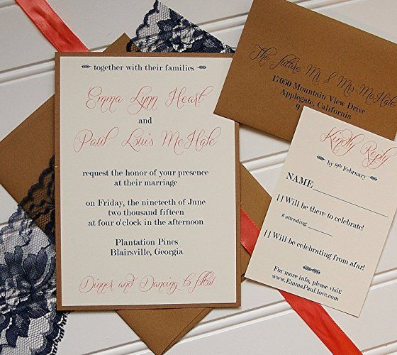 51 best contoh images on pinterest baby shower invitations navy and coral wedding invitations handmade by annalouavenue stopboris Choice Image