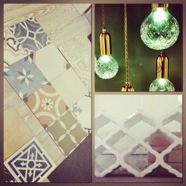 Cement tiles // materials for design // lighting design // materials for interior design // karavasilidesign