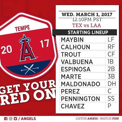 Watch live on @angelsradioam830 and @foxsportswest when Jesse Chavez makes his #LAASpring debut in Tempe today!  -    Angels Photo Stream | MLB.com