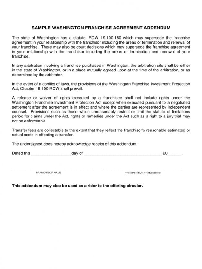 Franchise Termination Agreement Sample In 2020 Franchise
