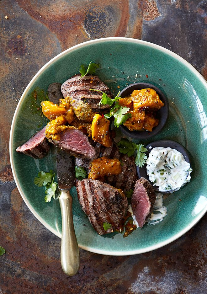Take your cooking outdoors and charm your guests with the well-balanced flavours of this Indian inspired ostrich dish.