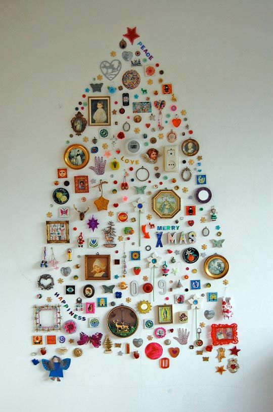 Wall Christmas Tree by Jane Schouten. diy Christmas tree trees craft crafts