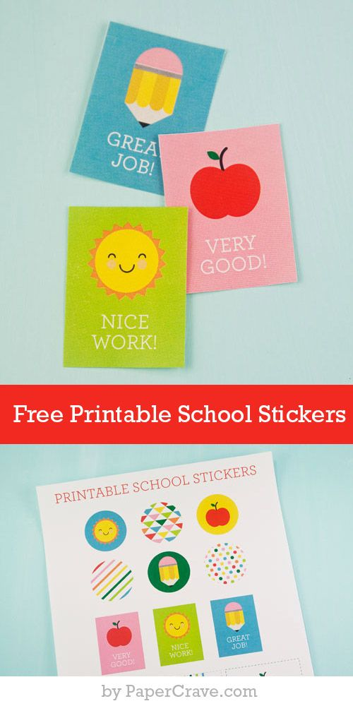 Free Printable School Stickers. Back to School tags.