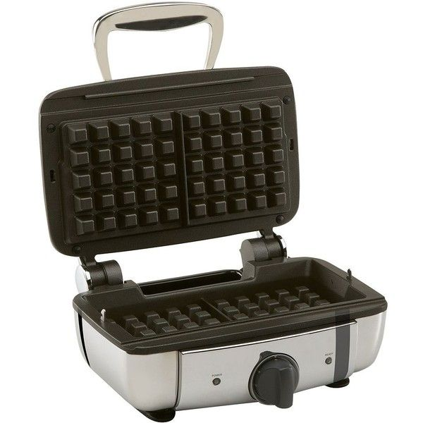 All-Clad 99011GT 2-Square Belgian Waffle Maker ($216) ❤ liked on Polyvore featuring home, kitchen & dining, small appliances, silver, all clad waffle maker, belgian waffle maker, belgian waffle iron, square waffle iron and all clad waffle iron
