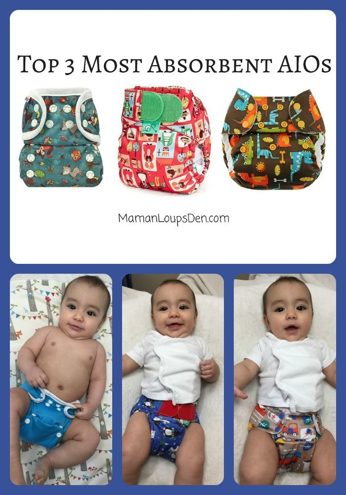 Top 3 Most Absorbent All-In-One Cloth Diapers ~ Maman Loup's Den