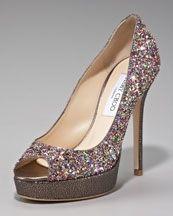 SearchWedding Shoes, Choo Crowns, Glitter Platform, Platform Pumps, Jimmy Choo, Choo Glitter, Jimmychoo, Neiman Marcus, Crowns Glitter