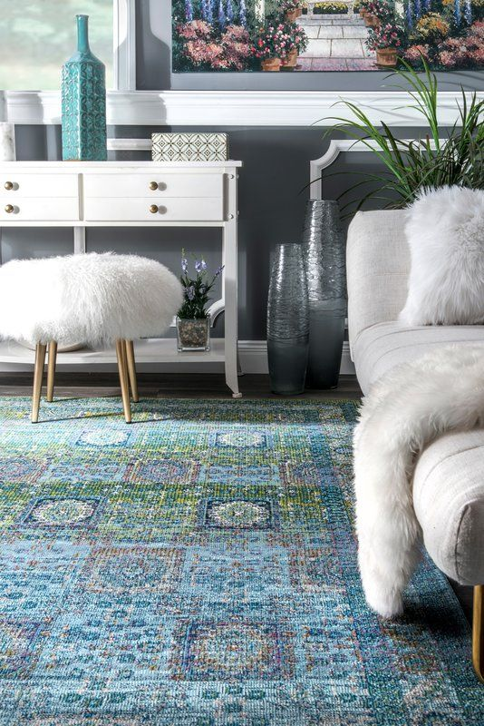 Viborg Blue/Green Area Rug