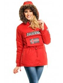 Chaqueta Geographical Norway Bulding red