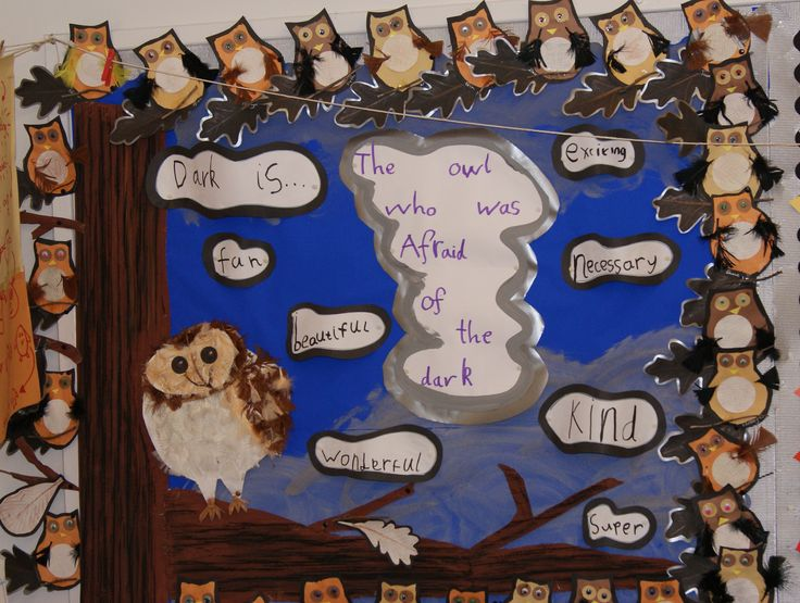 The owl who was afraid of the dark school display