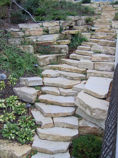 Fond Du Lac Weatheredge Outcropping Steps By Buechel Stone