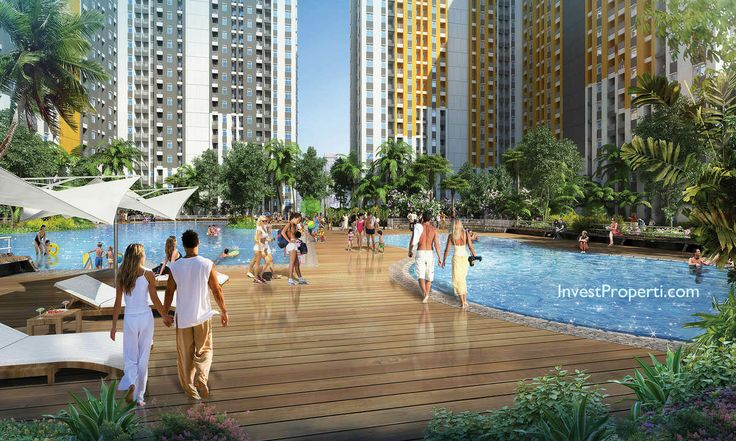 Swimming Pool @ Spring Lake Apartment Bekasi