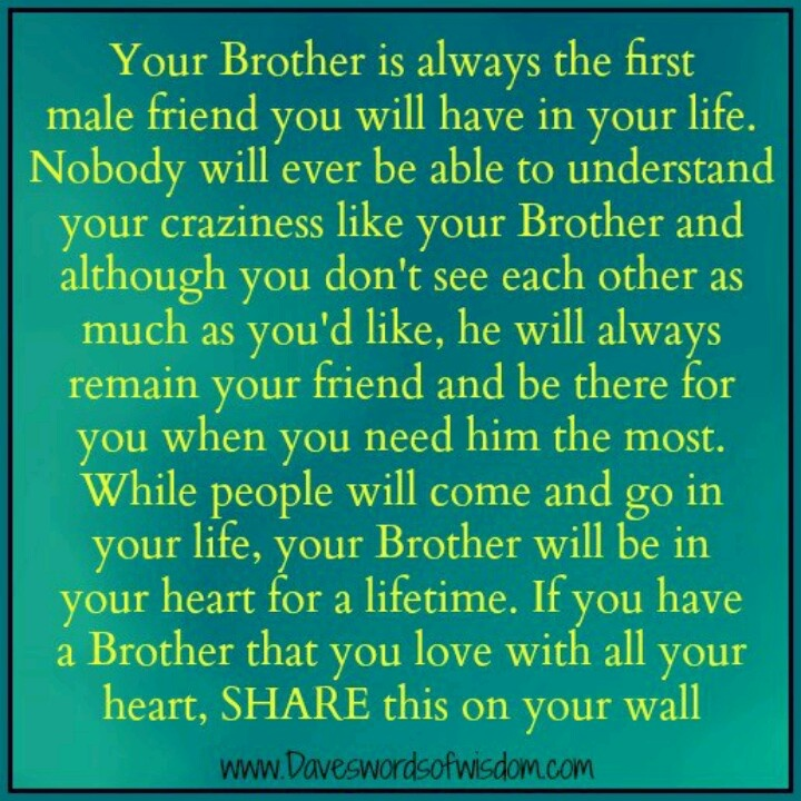 "Best Quotes For Younger Brother: I Don't Really Have A ""brother"", But This Would Be Cute"