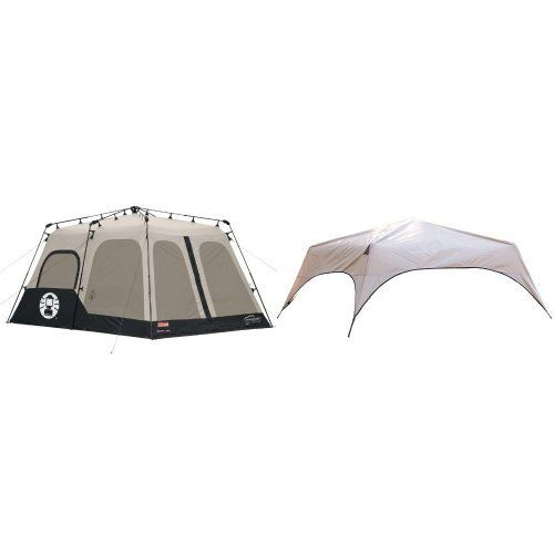 Coleman Instant 8 Person Tent Black 14x10Feet and Coleman 8Person Instant Tent Rainfly Accessory Bundle ** You can find more details by visiting the image link.