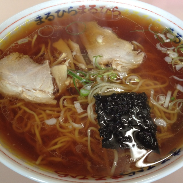釧路まるひらの醤油ラーメン。