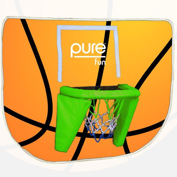 Pure Fun Trampoline Basketball Hoop
