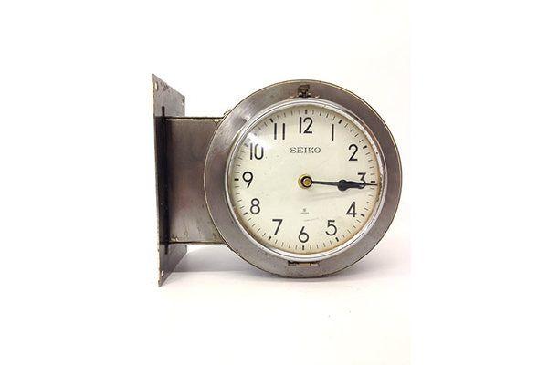 Original Polished Steel #Vintage Ship's Double Sided Clock | Vinterior London  #decor