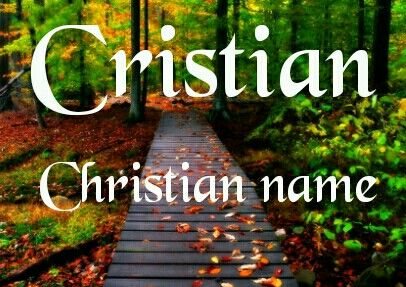 Cristian Christian name