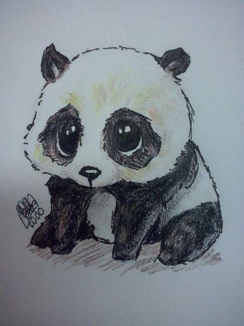 Panda dibujo_drawing #Panda #cute
