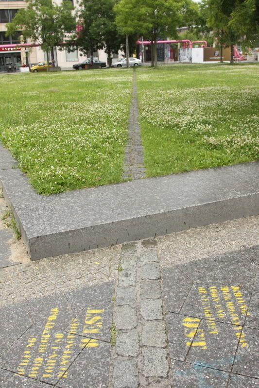 This s where the Wall of east Berlin, Germany used 2 b...