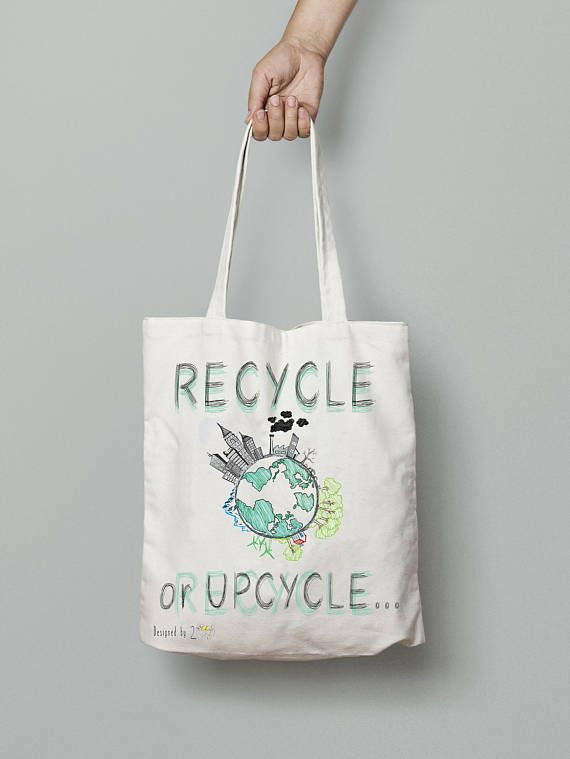 Recycle bags and totes patterns canvas tote bag ecologist
