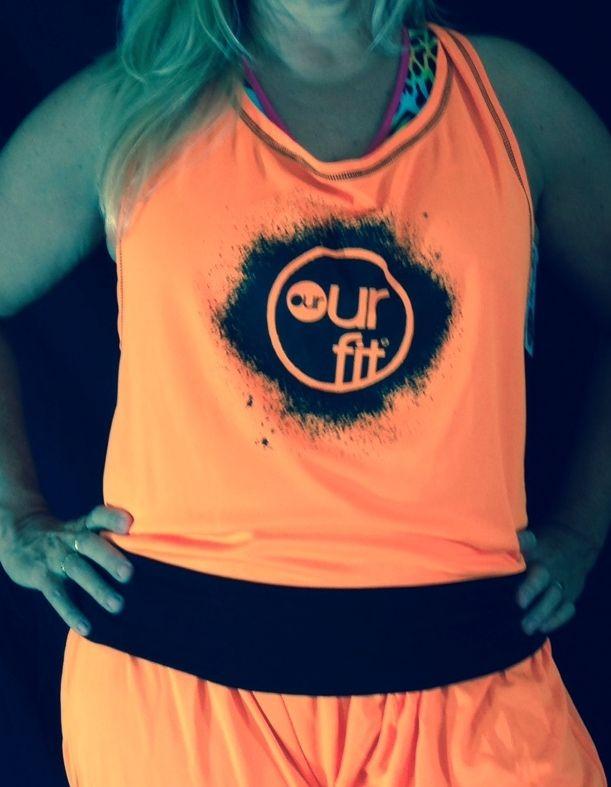Our Fit Fluro Orange Top and Harem Pants