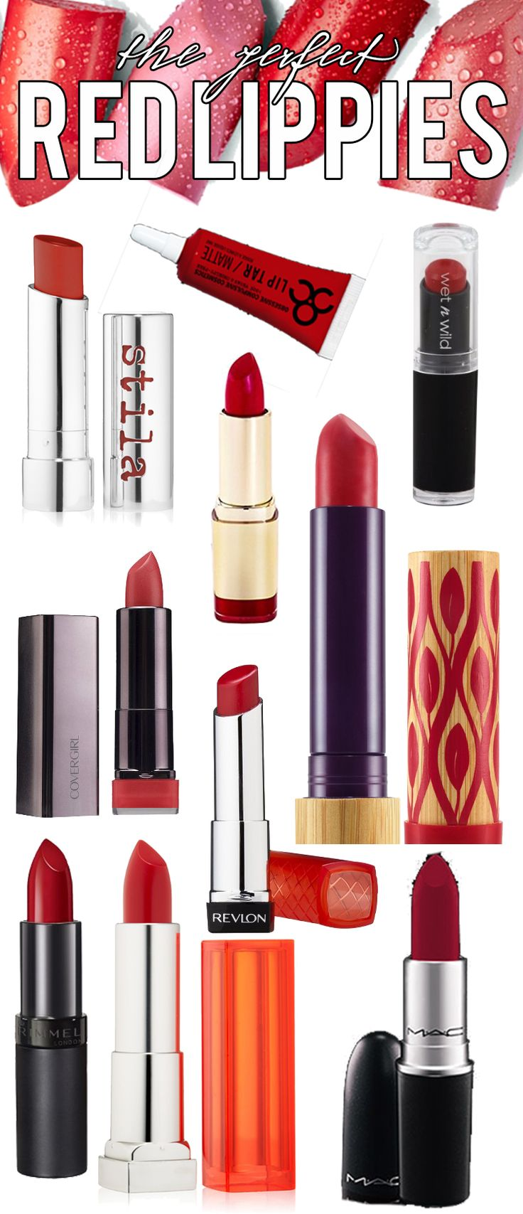 Look no further! You will never find a better guide to the top 10 red lipsticks; your favorite brands and favorite shades, see what made the list!
