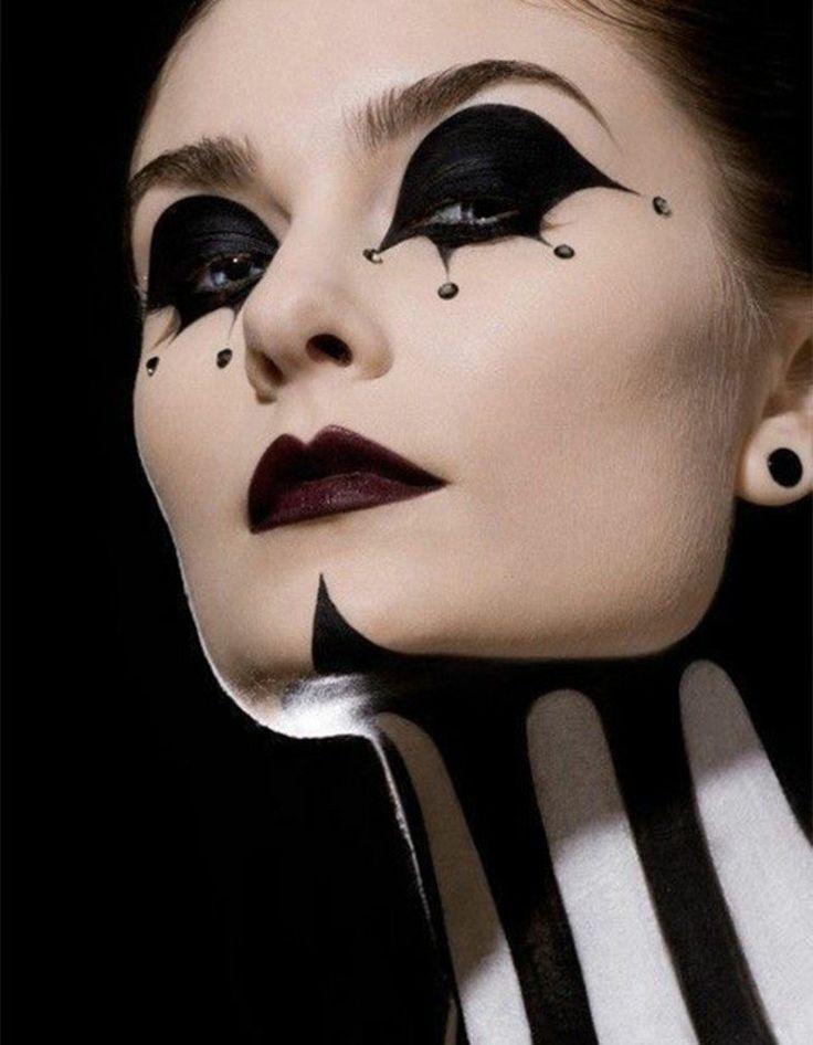 maquillage halloween cirque