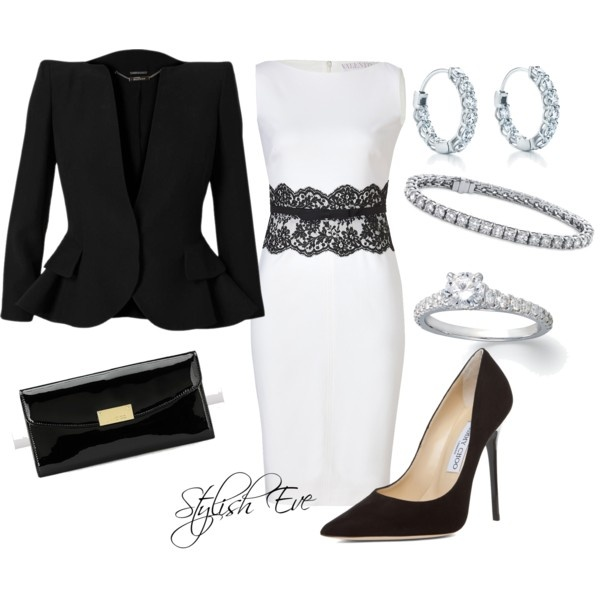 """Black & White Fancy !"" by stylisheve on Polyvore"