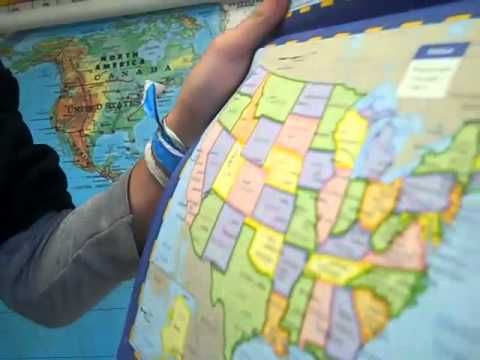Mystery Skype: The concept is simple: classrooms Skype call each other and try to guess where the other classroom is located.
