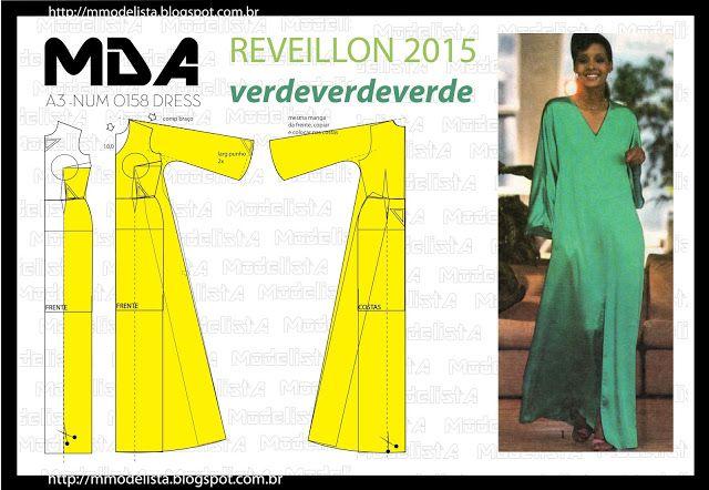 ModelistA: A3 NUMo 0158 DRESS - REVEILLON VERDE