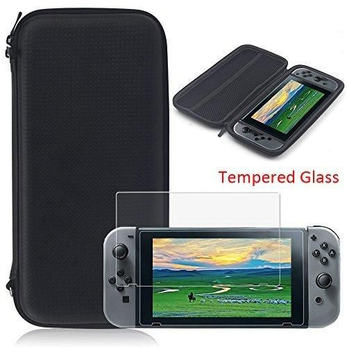 YZtree Nintendo Switch Carrying Case YZtree Nintendo Switch Carrying Game Traveler Deluxe Travel Case with Screen Protector and soft card for Nintendo Switch 2017