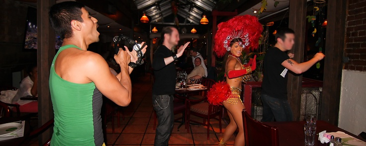 Our nighly interactive live Samba show - fun for everyone!!
