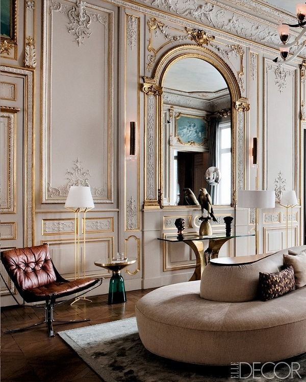 French style architectural moldings paris apartment decor inspiration