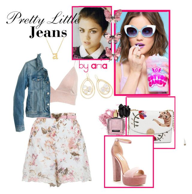 """""""Pretty Little Jeans"""" by mara-glamour ❤ liked on Polyvore featuring Zimmermann, Gucci, Jane Basch, Ippolita, J.Crew, Menu, Obsessive Compulsive Cosmetics, Steve Madden and Victoria's Secret"""