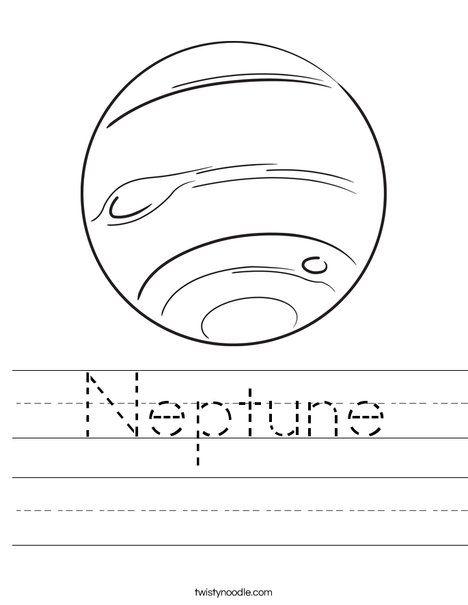 Neptune Worksheet Twisty Noodle Evans Solar System
