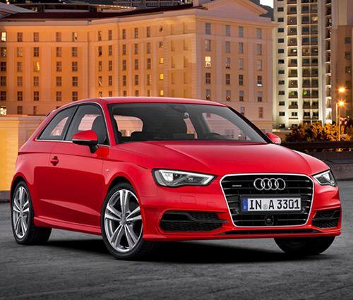 Audi's latest A3 hatchback. Three-door European model shown.
