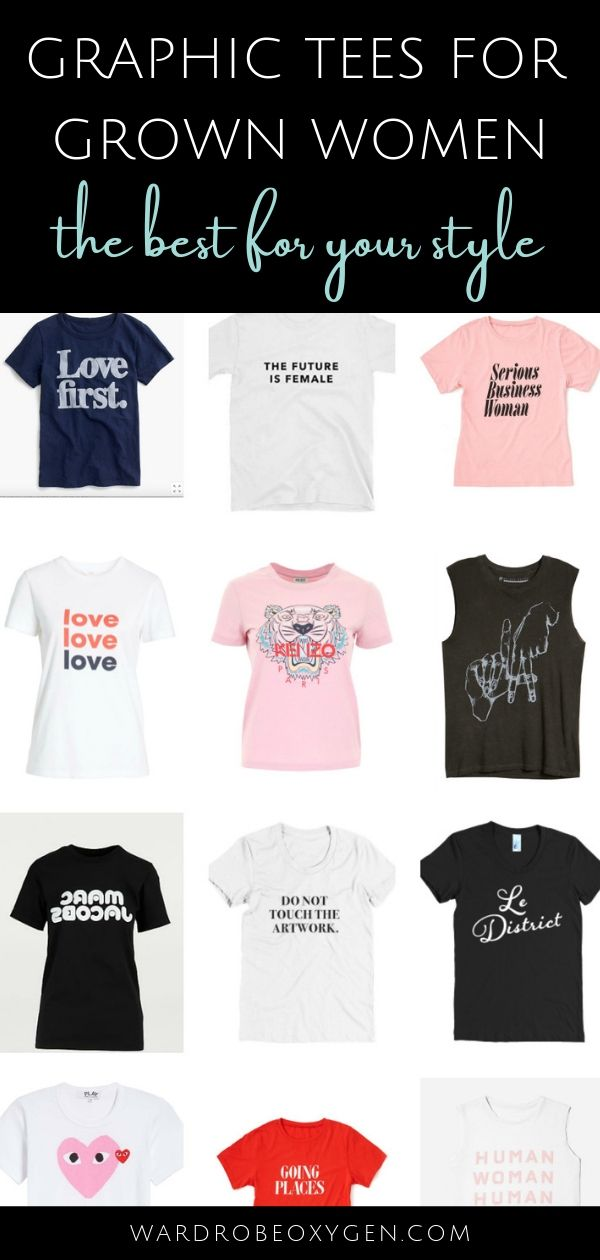 bd8e1ebb7 Graphic tees for grown women: the best graphic tees that are cool and  modern, selections to fit every personality, and tips on where to shop  #over40fashion ...
