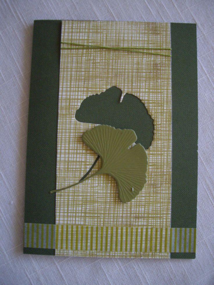 ginko+leaf+die+card+ideas | Ginko leaf die - washi tape
