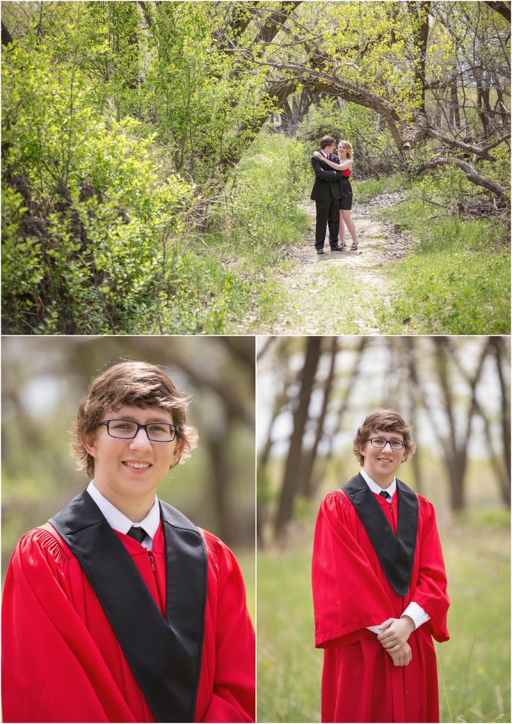 High School Graduation 2015 Highlights | Medicine Hat Photography.  Photo ideas for grad student in black and red cap and grown for prom with date. Taken by Woods Photography (CANADA).  #graduation #prom #photography