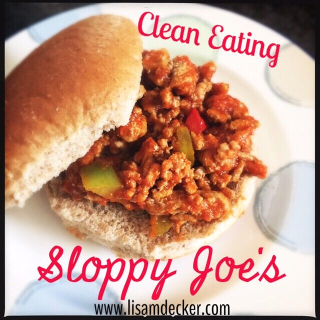 Clean Eating Sloppy Joe's, Clean Eating, Sloppy Joe's, Meal Planning, Healthy Dinner Recipes
