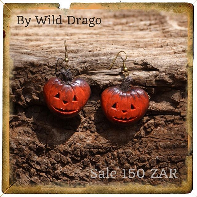 Halloween collection-- earrings pumpkin---SALE---#exclusive #earrings #bywilddrago #by #johannesburg #polymerclay #polymerclaytutorial #halloween #craft #gifts Welcome to the magical world of unique gifts. Here you can see my work. And do you know where you can buy beautiful gifts from polymer clay for him, for her, for mum, for dad, for a friend to all. @WildDrago_CraftShop