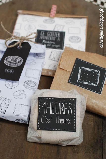 vite ! imprimez ces étiquettes cadeaux effet peinture ardoise, cadeaux et en français ! Etiquettes pour le gouter !