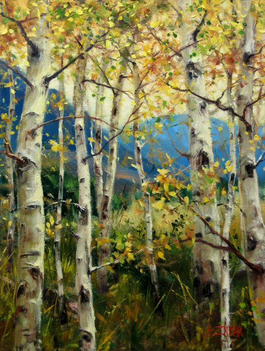 Bill has been painting aspens lately - making me a little home sick