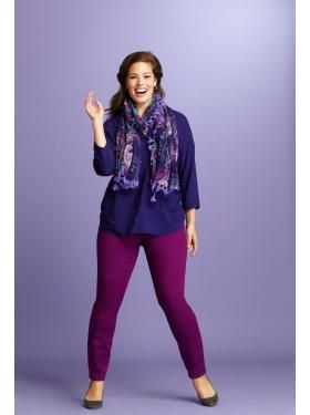 Women's Plus Size Clothes: Life in Color | Old Navy - The 3/4-Sleeve Blouse & Pop-Color Rockstar Jegging
