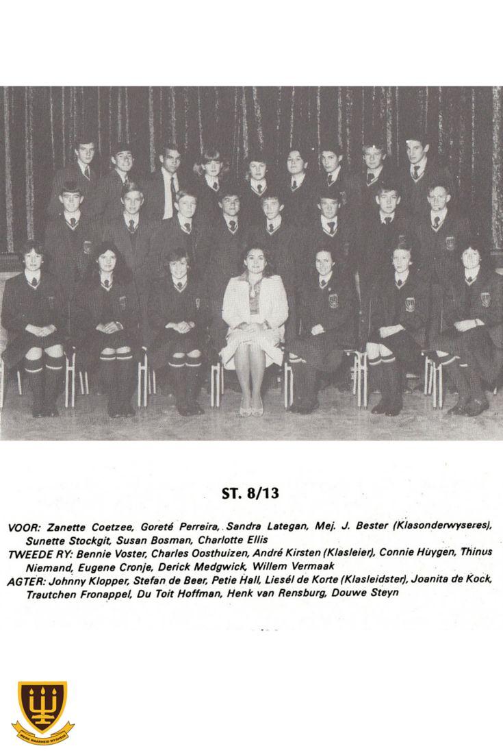 ST. 8/13 Klasonderwyser Mej. J. Bester #1980 #WesvaliaHistory